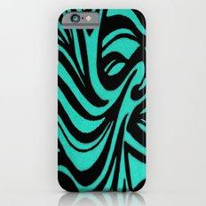 Blue & Black Waves iPhone 6s Slim Case