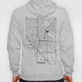 Fresno Map Gray Hoody