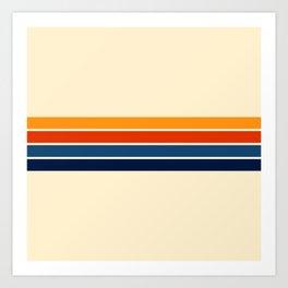 Classic Retro Stripes Kunstdrucke