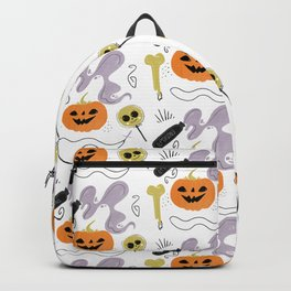Happy halloween pumpkins, poison, bones and candies pattern Backpack