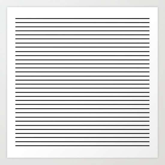 Minimal Stripes Art Print