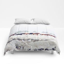 Winter Horse Herd Comforters