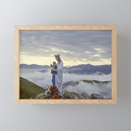 Vierge d'Orisson; Camino Frances Framed Mini Art Print