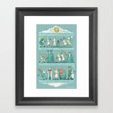 Tapisserie de Arrrgggh Framed Art Print