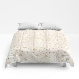 Celestial Pearl Moon & Stars Comforters