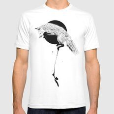 fox White Mens Fitted Tee MEDIUM