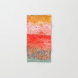 coral horizon Hand & Bath Towel