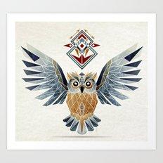 owl winter Art Print