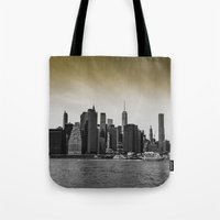 manhattan Tote Bags featuring Manhattan by Forand Photography