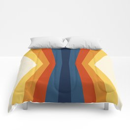 Bright 70's Retro Stripes Reflection Comforters