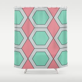 Pastel Geo Shower Curtain