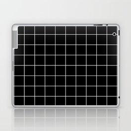 Grid Pattern Line Stripe Black and White Minimalist Geometric Stripes Lines Laptop & iPad Skin