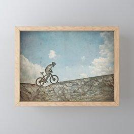 Mountain Biking Framed Mini Art Print