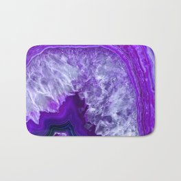 purple stone Badematte