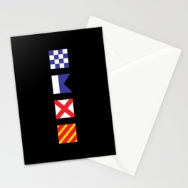 N - A - V - Y Spelled out in Signal Flags Stationery Cards