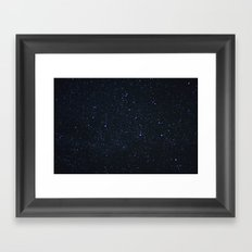 you know your place in the sky Framed Art Print