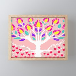 Love Grows Forever - Blush Peach Framed Mini Art Print