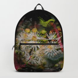 Beautiful white gum blossom abstract Backpack