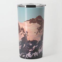 Pink Cascade Mountain Travel Mug