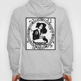 Magic Girl Black and White Hoody