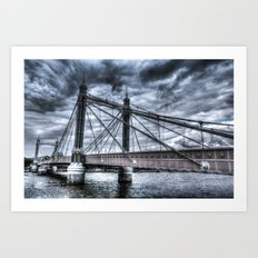 The Albert Bridge London  Art Print