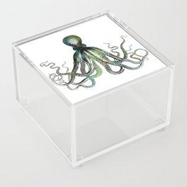 Octopus marine life watercolor art Acrylic Box