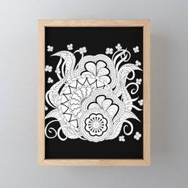 black&white zen composition 2 Framed Mini Art Print