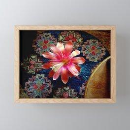 Cactus Flower By Design Framed Mini Art Print
