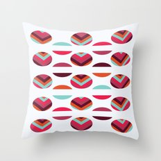 Tribal Circles Throw Pillow