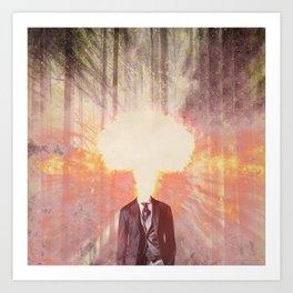 Headless man in the woods Art Print