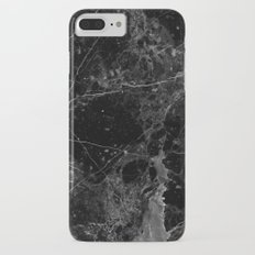 Real Black Marble iPhone 7 Plus Slim Case
