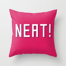 NEAT! Throw Pillow