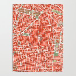 Mexico city map classic Poster