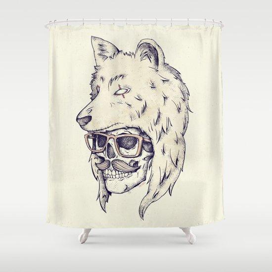 WOLF HAT Shower Curtain
