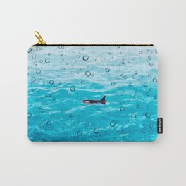 Orca Whale gliding through the water on a rainy day Carry-All Pouch