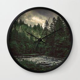 Pacific Northwest River - Nature Photography Wall Clock