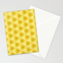 Yellow Honeycomb Stationery Cards