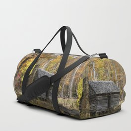 Smoky Mountain Rural Rustic Cabin Autumn View Duffle Bag