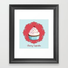 Cherry cupcake Framed Art Print