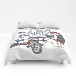 Tea Birds Comforters