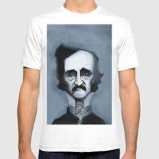 Mr. Alan Poe Mens Fitted Tee MEDIUM White