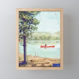 fishing - by phil art guy Framed Mini Art Print