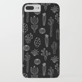Cactus Silhouette White And Black iPhone Case