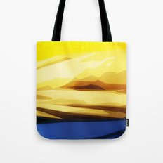 Sunny Seaside Mountains Tote Bag