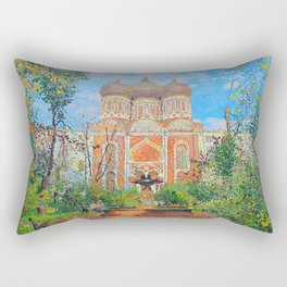 The Cathedral of the Intercession of the Holy Virgin in Izmailovo Rectangular Pillow