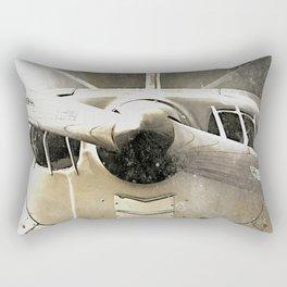 Antique Airplane Propeller Rectangular Pillow