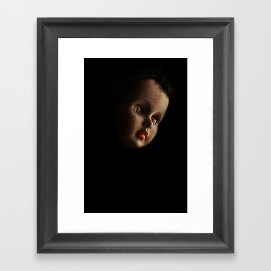 Doll head (original) Framed Art Print