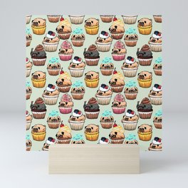 Cupcake Pugs Mini Art Print