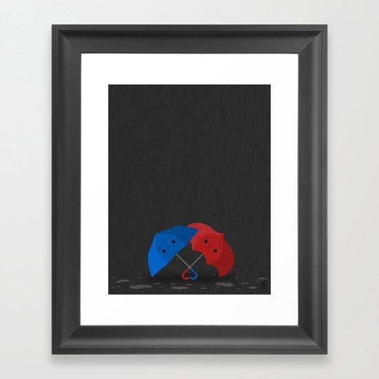 Blue&Red Framed Art Print
