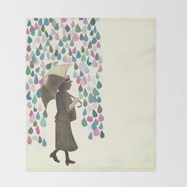 Rain Dance Throw Blanket